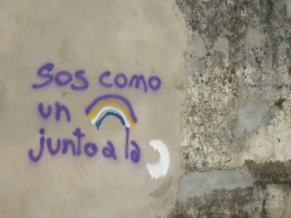 sos como un arco iris junto a la luna, Cochabamba 1550, Rosario