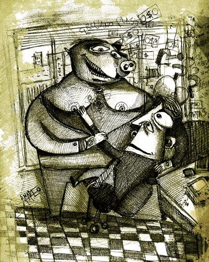 """Juan Sebastián Amadeo, ilustracíon para """"Presteza"""""""
