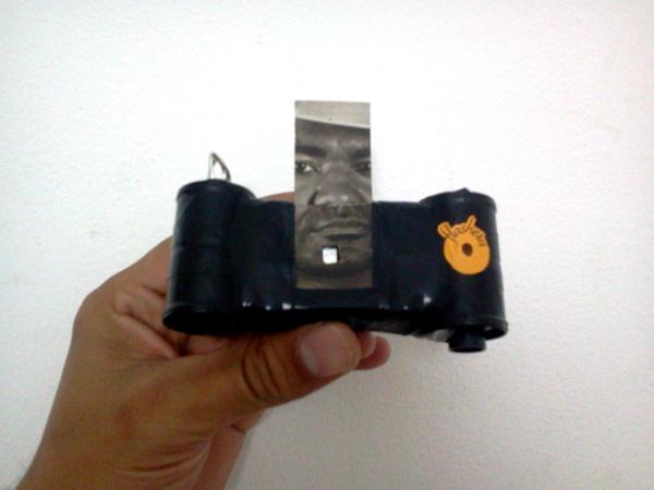 cámara negro flashero