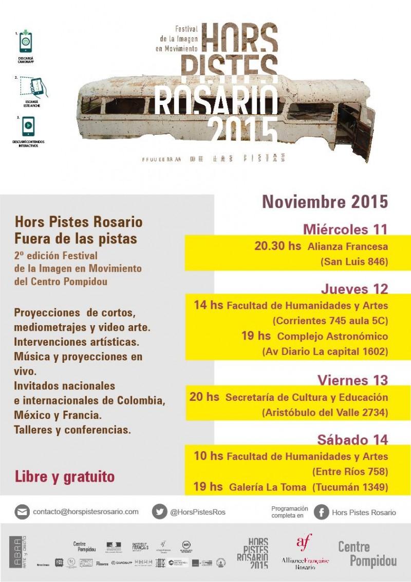 Programación Hors Pistes Rosario nov 2015