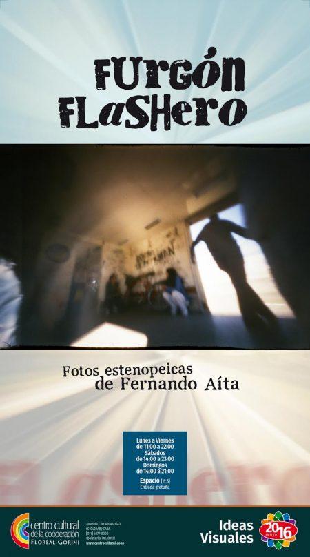 afiche furgón flashero en el CCC